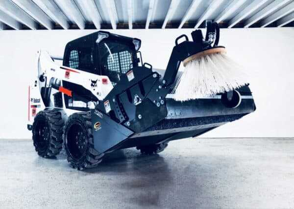 Clean Sweep Pick Up Broom w/ Curb Sweepe – Attachment for Skid Steer