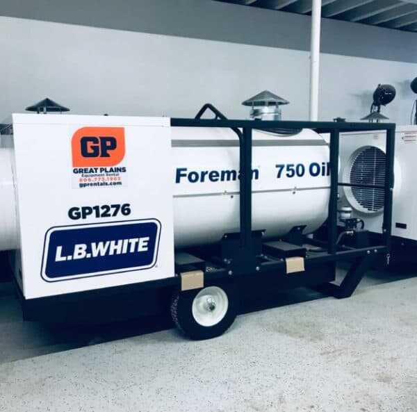 Rent a LB White 750,0000 Indirect Fired Diesel Heater from Great Plains Equipment Rental